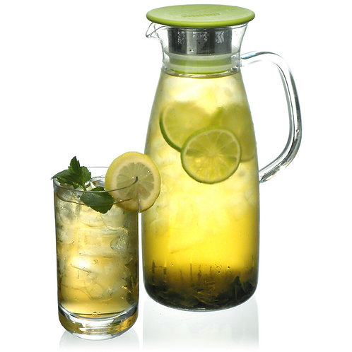 Mist Glass Ice Tea Jug for Cold or Hot Brew