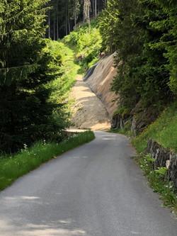 Départ chemin d'hiver cabane Brunet