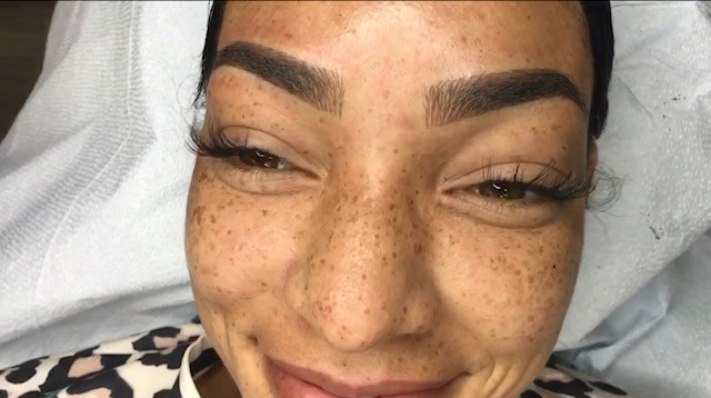 ombre brows strokes and shading
