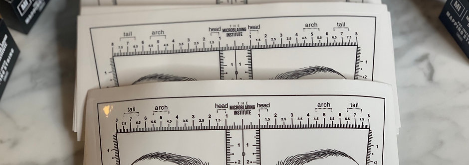 Deluxe Adhesive Forehead Ruler