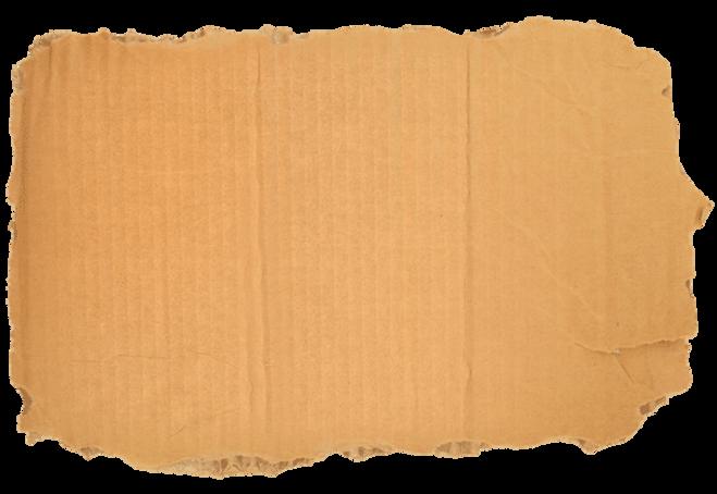 Cartón rasgado