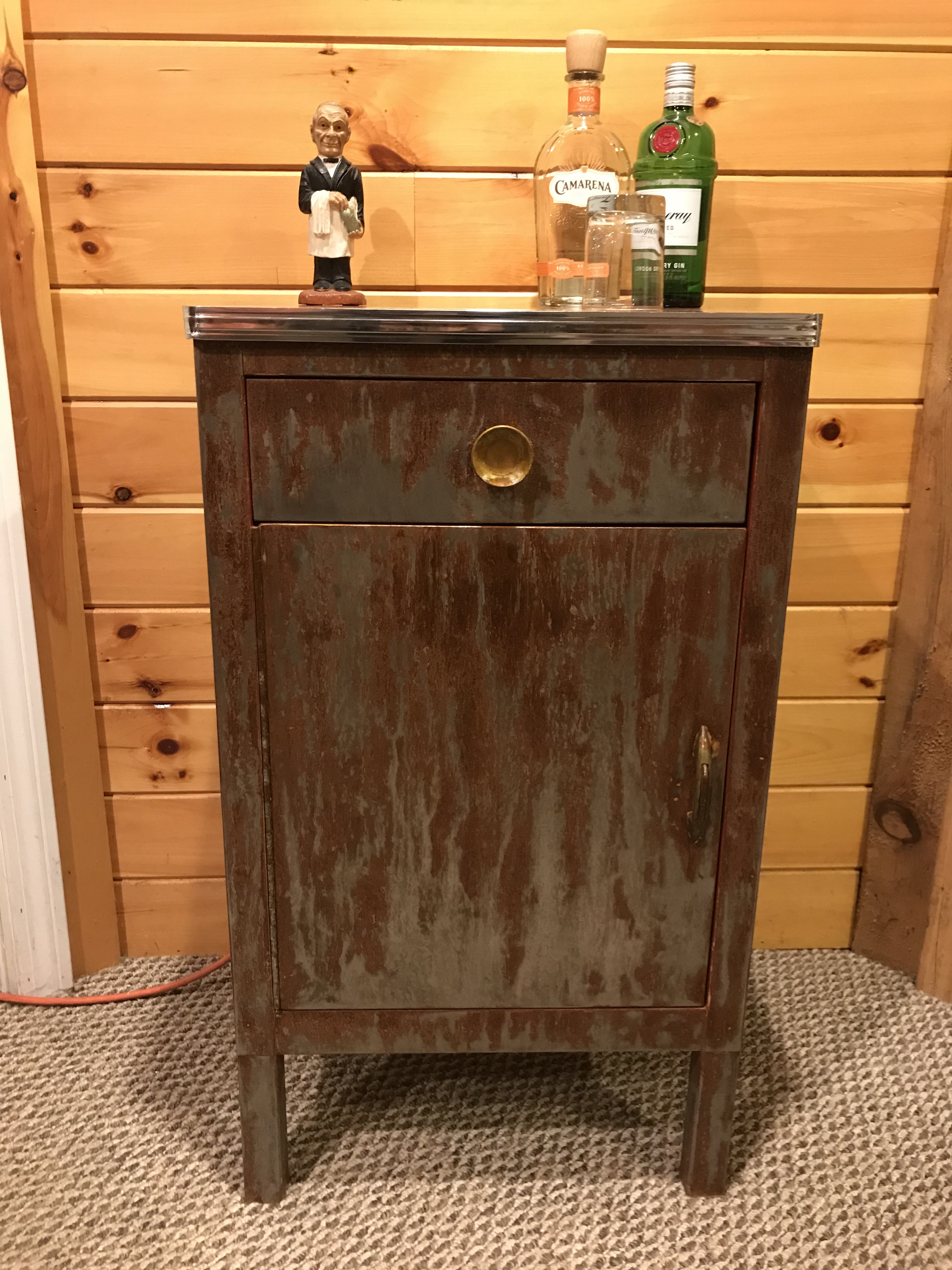 Vintage Metal Dentist Cabinet
