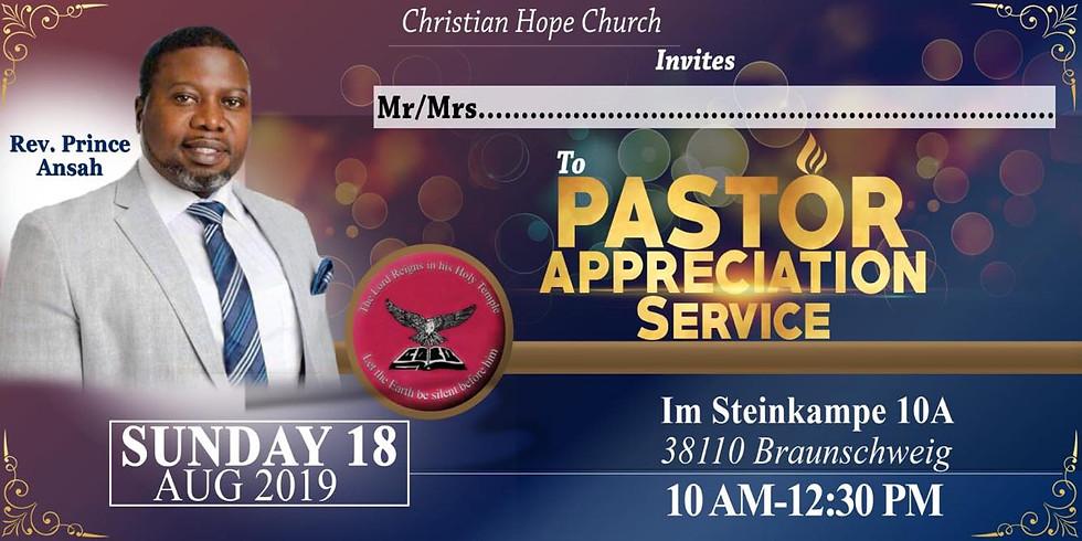 Pastors appreciation service