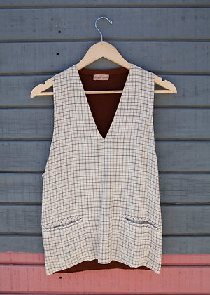 1940's Wool Knit Pullover Vest Small