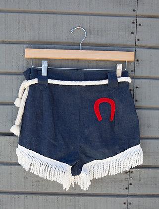 Rare Levi's Fringe Horseshoe Shorts