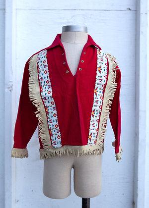 1970's Plainsman Children's Red Fringe Cowboy shirt