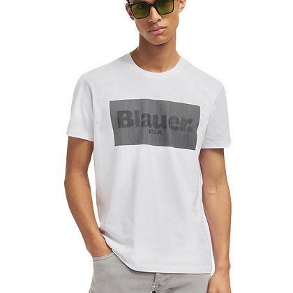 Blauer t-shirt stampa 3D 2133