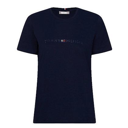 Tommy T-shirt logo stras 27137