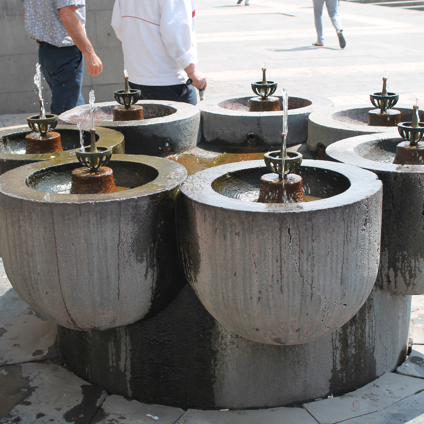Drinking water fountains in Yerevan
