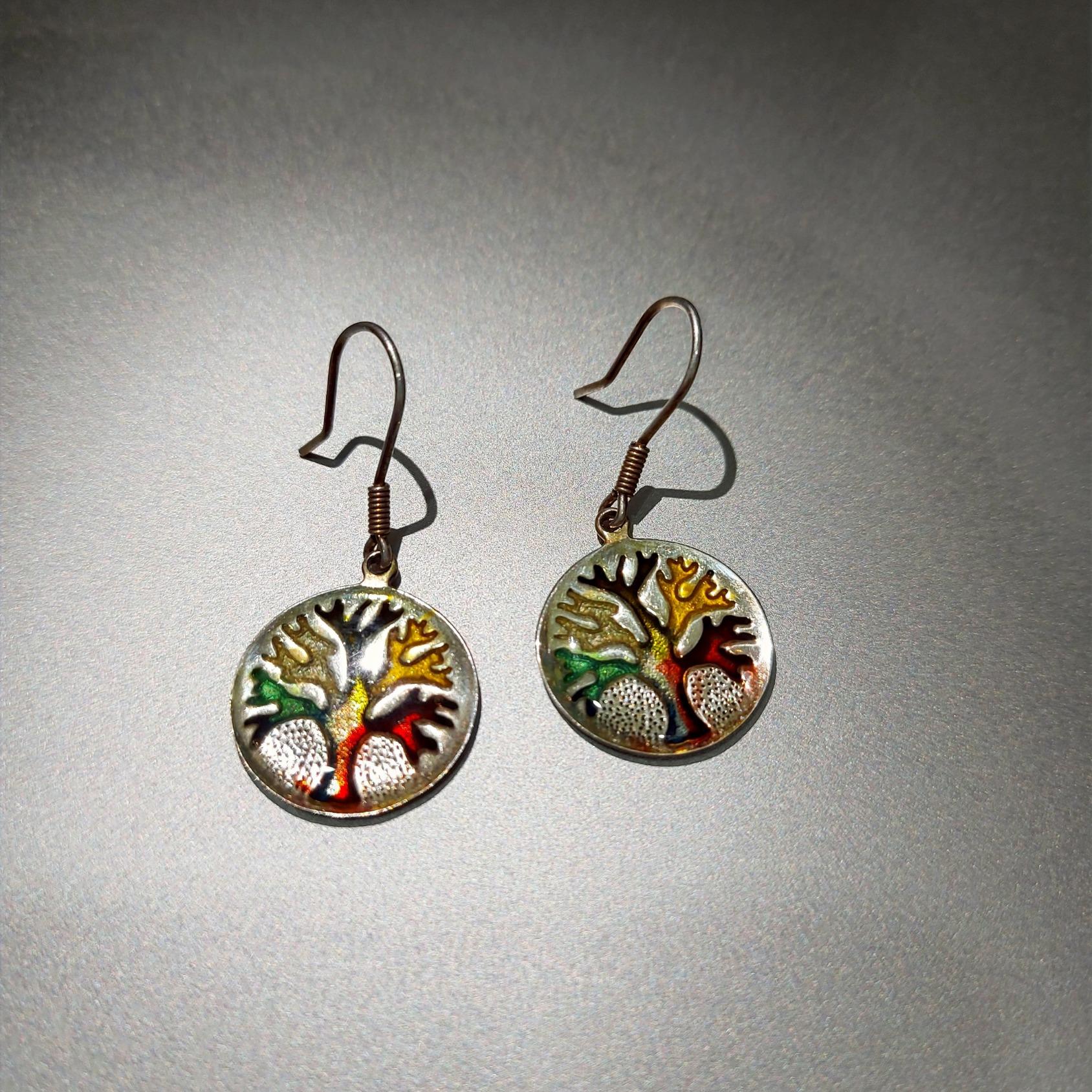 "Handmade silver earrings ""Tree of Life"""