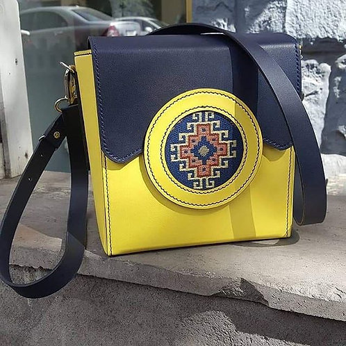 Ruben's bag: Blue and Yellow