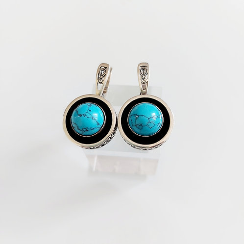 """Turquoise statement"" earrings"