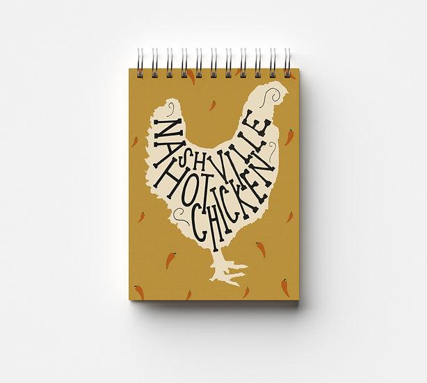 Nashville Hot Chicken Notepad