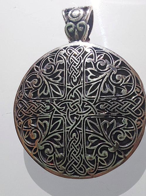"Handmade Silver Pendant ""Cross Shield"""