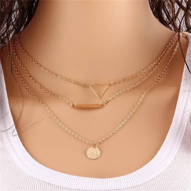three layered necklaces