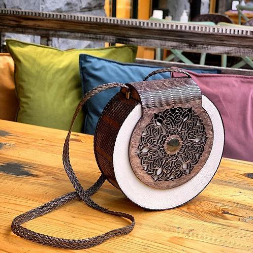 Trendy Wooden Handmade Bag