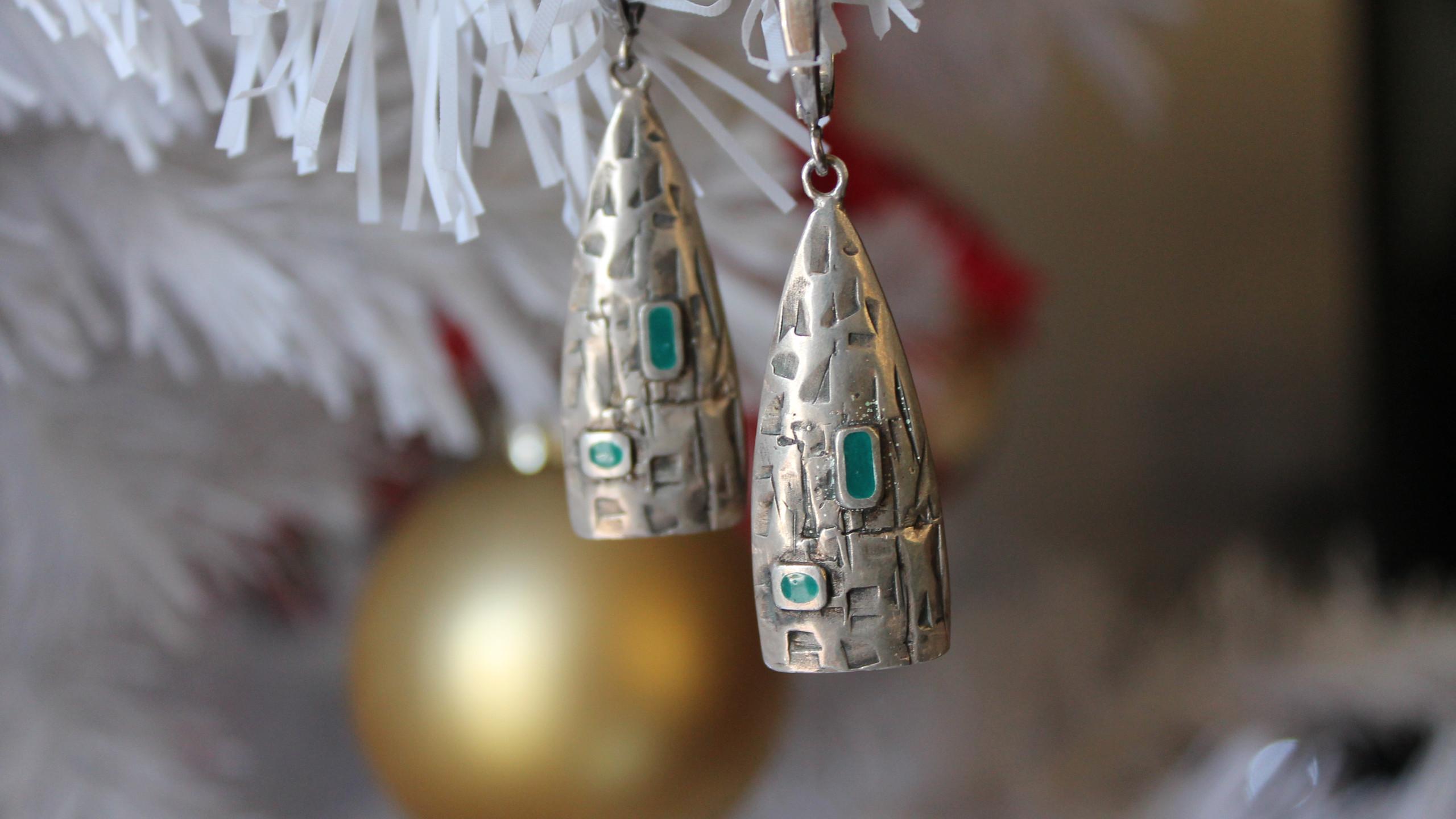"Earrings ""Christmas trees"""