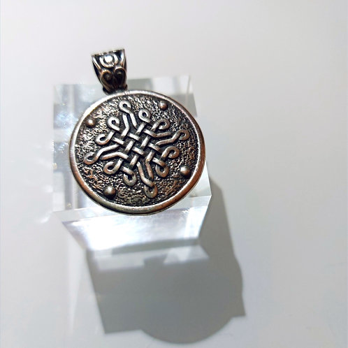 "Handmade Silver Pendant ""Shield"""