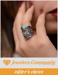 "Our ""Turquoise ring"" that became editor's choice on Jewelers Community"