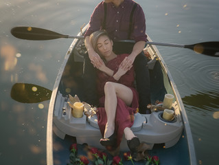 Notebook, a boat love story--Santee lake engagement photography
