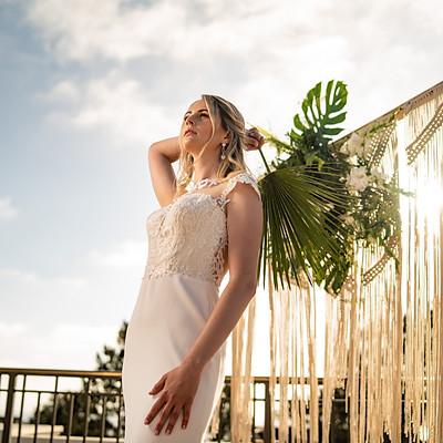 tropical stylized wedding
