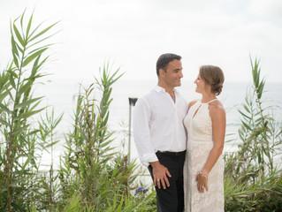 Kathleen and Haidi wedding by Del Mar Beach Park