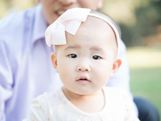 Cute baby, family portrait