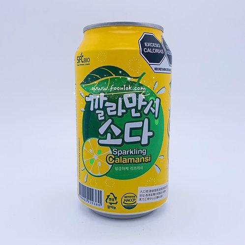 韓國SFC梳打汽水(青檸) 350mlx24罐