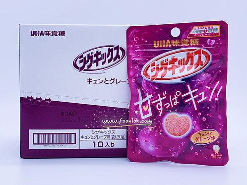 UHA Shigekix 心形軟糖(提子)20gx10包