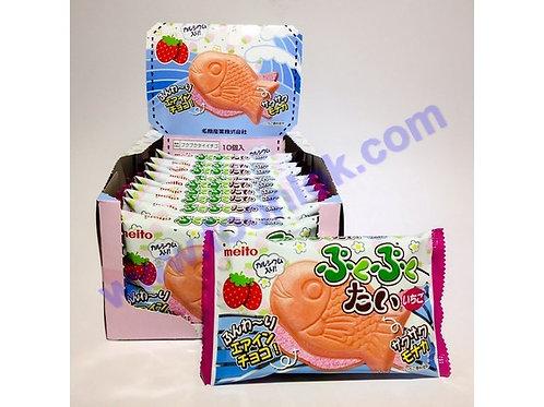 名糖夾心魚仔餅(草莓) 1盒x10包