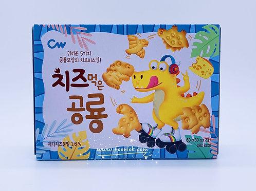 CW恐龍造型餅乾(芝士味)藍 60g