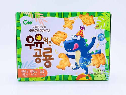 CW恐龍造型餅乾(牛奶味)綠 60g