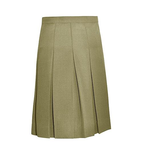 Boxpleat Skirt Khaki Junior