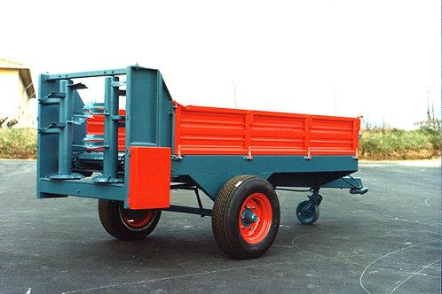 3,5 tonnás egytengelyes szerves trágyaszóró BV 50 BICCHI
