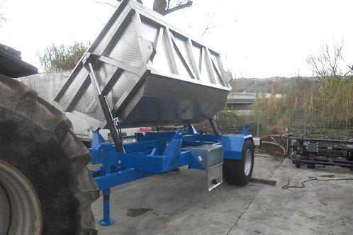 BML120 Szőlészeti pótkocsi-rozsdamesntes acél teknővel-Bicchi