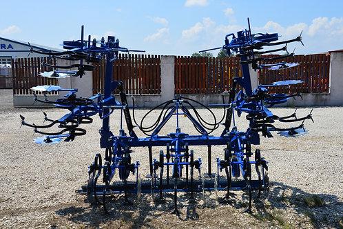 6 soros sorközművelő, hidraulikus
