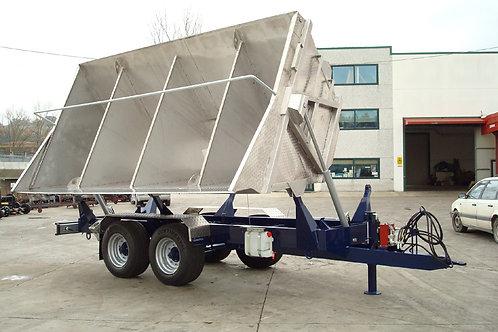 BML60 Szőlészeti pótkocsi-rozsdamesntes acél teknővel-Bicchi