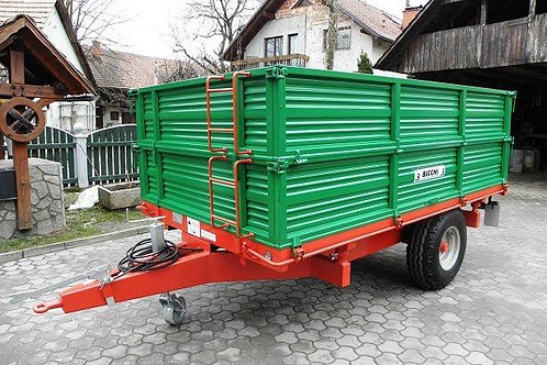 4 tonnás egytengelyes pótkocsi BRT 550 BICCHI