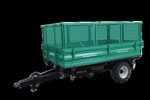 4 tonnás egytengelyes pótkocsi -kommunális oldalak