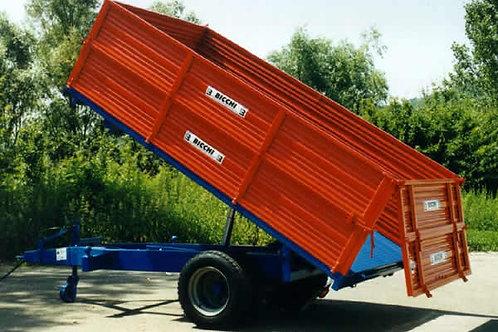 6,6 tonnás egytengelyes pótkocsi BRT 502L BICCHI
