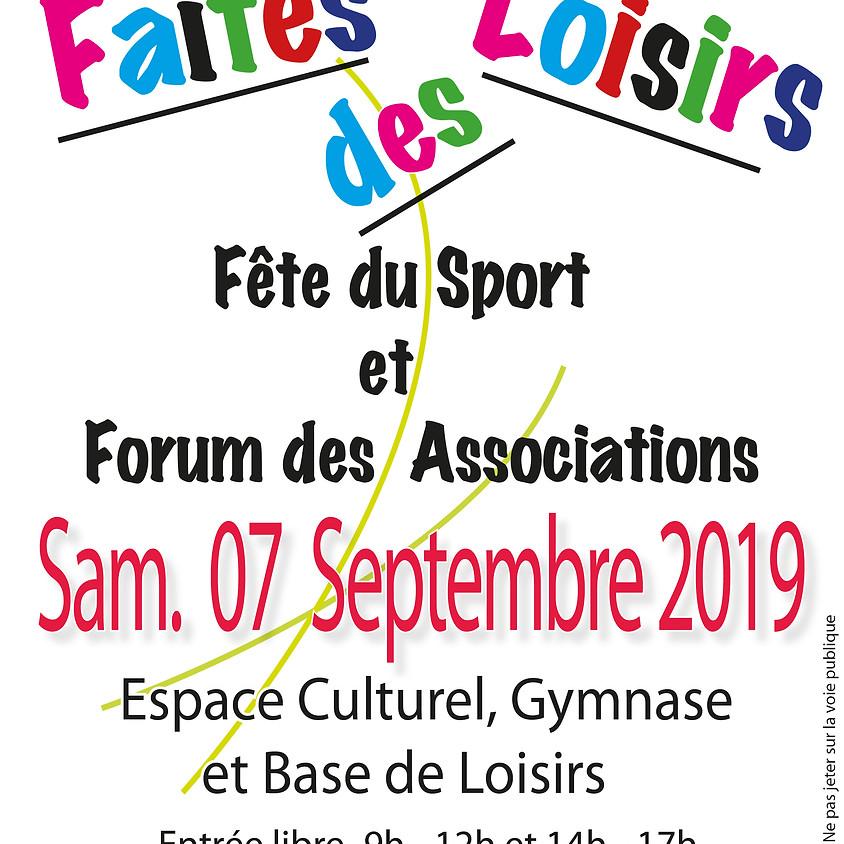 Faites des Loisirs le 7 septembre (Forum des associations et Fête du Sport)