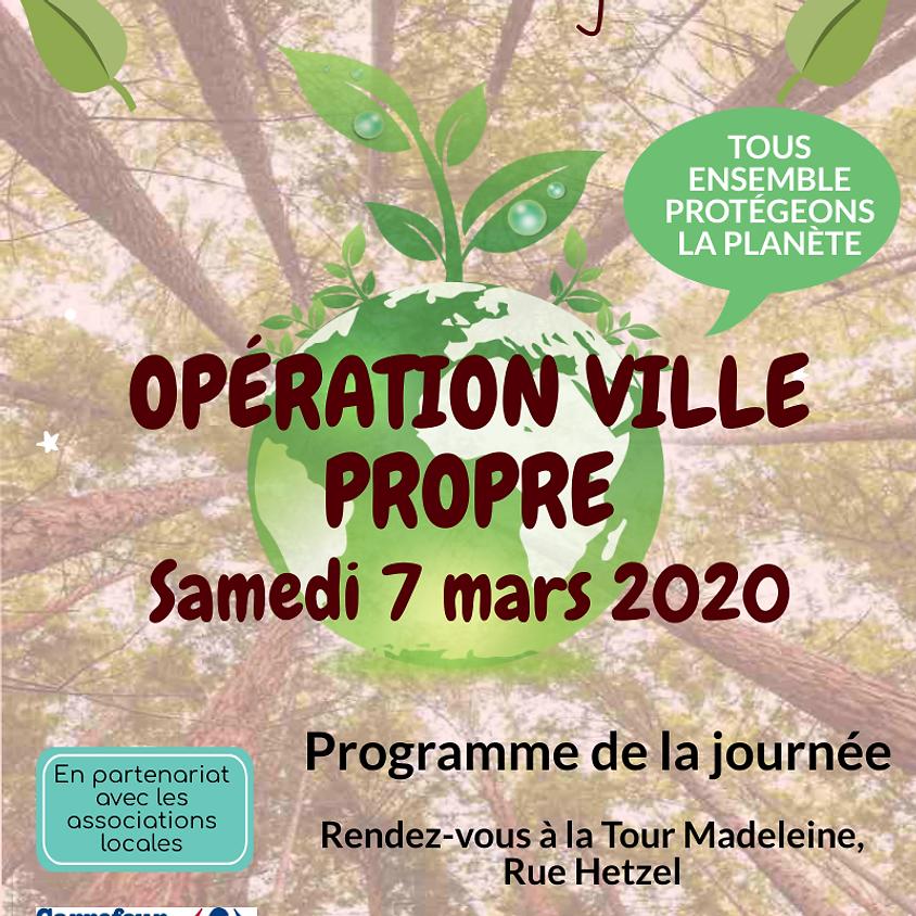 """Operation """"Ville propre"""" à Château-Landon"""