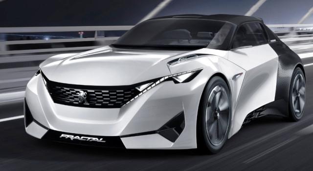 Peugeot Fractal: un agresivo coupé eléctrico fabricado con impresión 3D