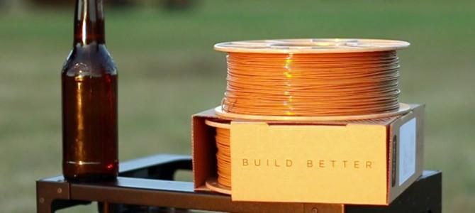 Buzzed, un filamento para impresión 3D hecho de cerveza