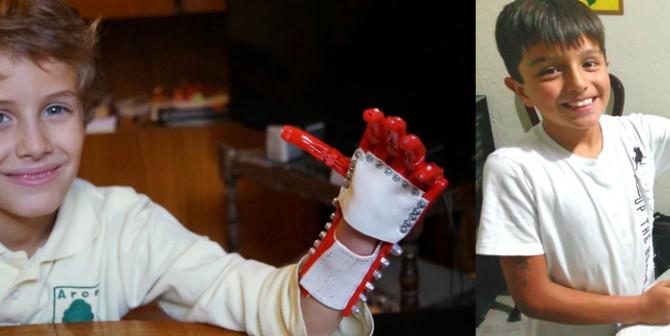 Prótesis de mano para niños víctimas de la guerra de Siria... Impresas en 3D