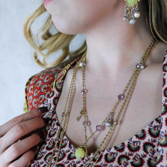 Curio Necklace Earrings