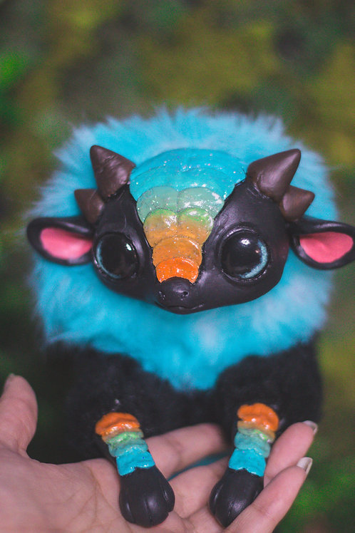 Azure Chibi Dragon Art Doll