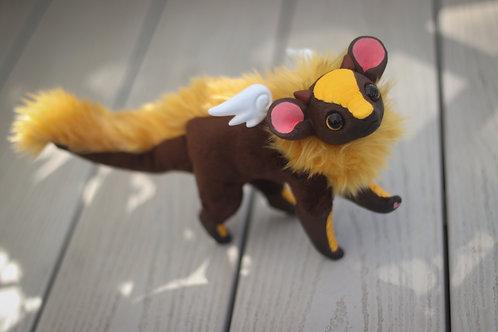Handmade Posesable  Sunflower Mouse Dragon Art Doll