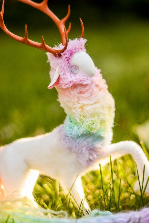 Handmade Poseable Rainbow Spirit Art Doll