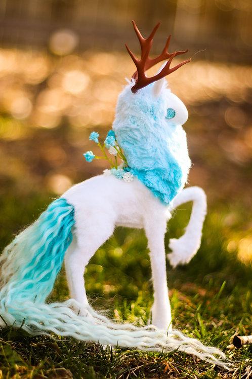 Handmade Poseable Sky Spirit Art Doll